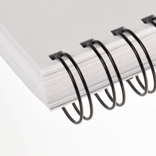 Wire-o para Encadernação 3x1 A4 Preto 7/16 para 85fls 100un