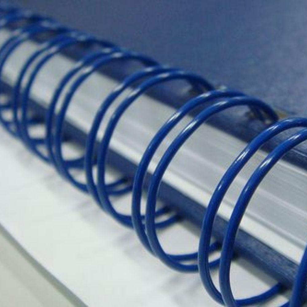 Wire-o para Encadernação A5 3/4 2x1 para 140fls Azul 36un