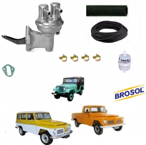 BOMBA DE GASOLINA JEEP/ RURAL / F 75 FORD WILLYS 6 CILINDROS COMPLETA