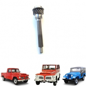 EIXO PILOTO CAMBIO 03 MARCHAS SECO JEEP / RURAL / F 75 FORD WILLYS