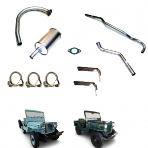 ESCAPAMENTO COMPLETO  JEEP FORD WILLYS 04 CILINDROS 48/58