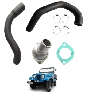 KIT COMPLETO MANGUEIRAS DO RADIADOR JEEP FORD WILLYS 04 CIL OHC