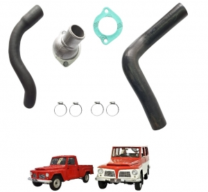 KIT COMPLETO MANGUEIRAS DO RADIADOR RURAL / F 75 FORD WILLYS 04 CIL OHC