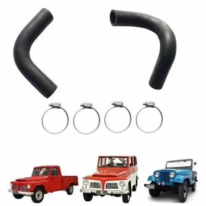 KIT MANGUEIRAS DO RADIADOR JEEP / RURAL / F 75 FORD WILLYS 06 CILINDROS