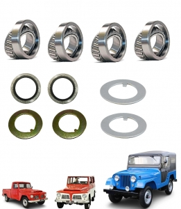 KIT ROLAMENTO CUBO DIANTEIRO JEEP / F 75 / RURAL FORD WILLYS 4X4