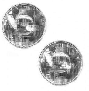 PAR DE FAROL DIANTEIRO 12V JEEP / RURAL / F 75 / F 100 / MAVERICK FORD WILLYS