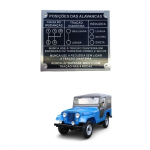PLACA DO PAINEL JEEP FORD WILLYS 4 MARCHAS
