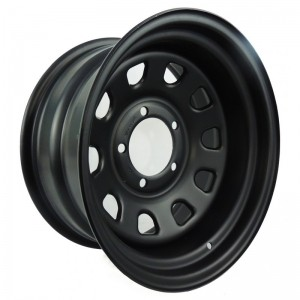 RODA DAYTONA PRETA 15X8 JEEP / RURAL / F 75 / F 100 FORD WILLYS
