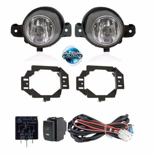 Kit Farol De Milha Nissan March 2010 2011 2012 2013 2014
