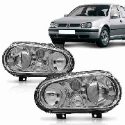 Farol Volkswagen  Golf 1999 2000 2001 2002 2003 2004 2005 2006 Sem Milha Mascara Cromada
