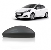 Capa Retrovisor Peugeot 208 2012 2013 2014 2015 2016 Preta