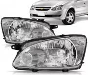 Farol Chevrolet Corsa Classic 2011 2012 2013 2014 2015 2016 Mascara Cromada