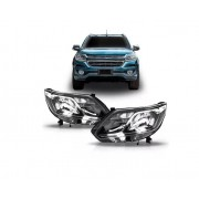 Farol Chevrolet S10 Trailblazer e LTZ 2017 2018 2019 Cromado Com Led Marca TYC