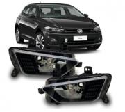 Farol De Milha Volkswagen Polo Virtus 2018 2019 2020 Negro Sem Led
