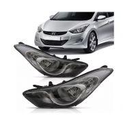 Farol Hyundai Elantra 2011 2012 2013 2014 Mascara Negra