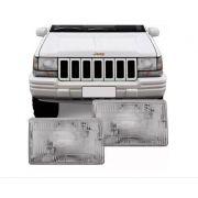 Farol Jeep Grand Cherokee 1993 1994 1995 1996 1997 1998 Lente Acrilico
