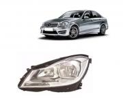 Farol Mercedes C120 C200 C220 C240 C280 2012 2013 2014 Sem Xenon Máscara Cromada