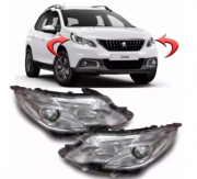 Farol Peugeot 2008 Anos 2015 2016 2017 2018 Com Led
