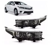 Farol Toyota Corolla 2015 2016 2017 Com LED e Xenon Depo