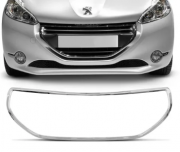 Friso Cromado Da Grade Peugeot 208 2012 2013 2014 2015 2016