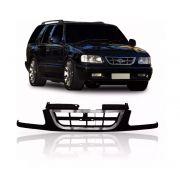 Grade Dianteira Chevrolet S10 e Blazer 1996 1997 1998 Com Bigode e Friso Cromado