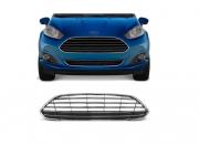 Grade Dianteira Ford New Fiesta Hatch 2013 2014 2015 2016 Com Friso Cromado