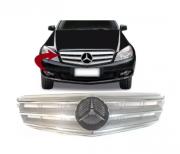 Grade Dianteira Mercedes c180 c200 c220 c240 c280 2007 2008 2009 2010 2011 Prata Com Friso Cromado