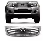 Grade Dianteira Toyota Hilux Sw4 2012 2013 2014 2015 Com Friso Cromado
