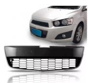 Grade Do Parachoque Chevrolet Sonic 2012 2013 2014 2015 Central Com Friso Cromado