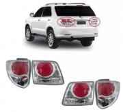 Jogo Lanternas Traseiras Toyota Hilux Sw4 2012 2013 2014 2015 4 Peças
