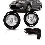Kit Farol de Milha Toyota Etios Ano 2013 2014 2015 Sem botão