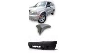 KIT Moldura Aplique + Parachoque Dianteiro Chevrolet Tracker Sem furo Milha 2004 2005 2006 2007 2008