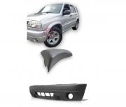 KIT Moldura Aplique + Parachoque Dianteiro Com Furo Milha Chevrolet Tracker 2004 2005 2006 2007 2008