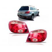 Lanterna Traseira Mitsubishi Airtrek 2004 2005 2006 2007 2008 2009 2010 Vermelha E Rosa