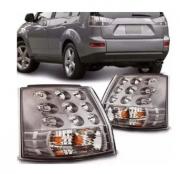 Lanterna Traseira Mitsubishi Outlander 2007 2008 2009 2010 2011 2012 2013 Canto Com Led