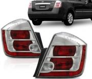Lanterna Traseira Nissan Sentra  2010 2011 2012 2013 Borda Cromada