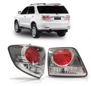 Lanterna Traseira Toyota Hilux Sw4 2013 2014 2015 Cromada / Vermelha Canto