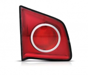 Lanterna Traseira Volkswagen Spacefox Vermelha Borda Preta 2006 2007 2008 2009 2010 Mala