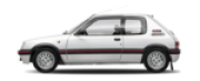 Lente Farol Peugeot 205