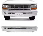 Parachoque Dianteiro Ford F1000 e F4000 1996 1997 1998 Cromado Com Furo Para Friso