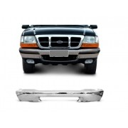 Parachoque Dianteiro Ford Ranger 1998 1999 2000 2001 2002 2003 2004 Cromado Com Furo