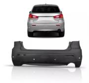Parachoque Traseiro Mitsubishi Asx 2011 2012 2013 2014 Com Furo Para Sensor