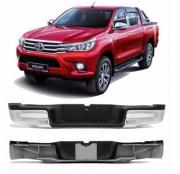 Parachoque Traseiro Toyota Hilux Srv / Srx 2016 2017 2018 2019 2020 2021 Cromado Completo Pisante e Suporte