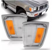 Pisca Lanterna Dianteira Toyota Hilux Pickup Sr5 4x2 1992 1993 1994 1995 1996 1997 1998 1999 2000 2001 Aro Cromado