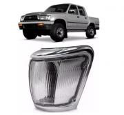 Pisca Lanterna Dianteira Toyota Hilux Sr  2002 2003 2004 Cristal Aro Cinza