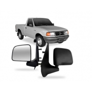 Retrovisor Ford Ranger Preto Manual 1993 1994 1995 1996 1997