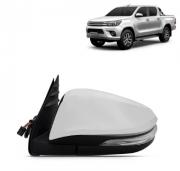 Retrovisor Toyota Hilux Srv 2016 2017 2018 2019 Cromado Elétrico Com Pisca