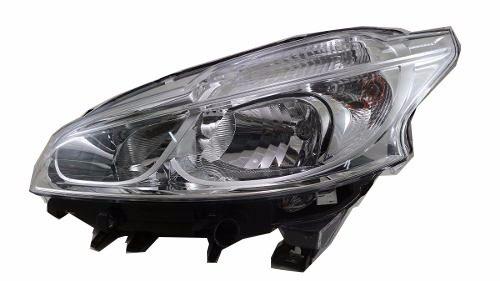 Farol Peugeot 208 2012 2013 2014 2015 2016 Mascara Cromada Sem Led