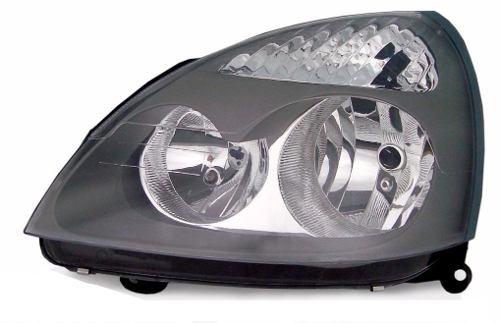 Farol Renault Clio 2006 2007 2008 2009 2010 2011 2012 Foco Duplo Mascara Cinza