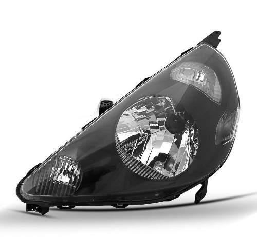 Farol Honda Fit 2003 2004 2004 2005 2006 2007 2008 Mascara Negra